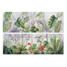 Glezna Dekodonia Akrīls Koks Tropiskais Canvas (2 pcs)