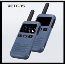 Mini Walkie Talkie Retevis RB619 PMR 446 Radio Station Walkie-Talkies 2 pcs Two-way Radio Portable radio for hunting restaurant
